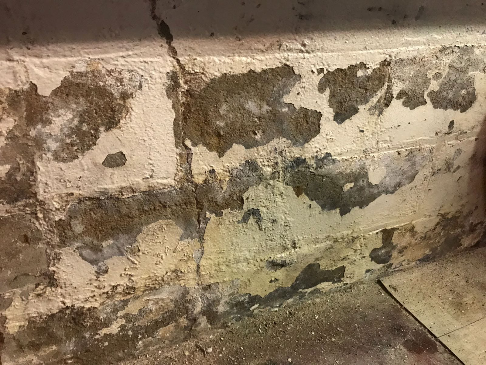 basement wall water damage