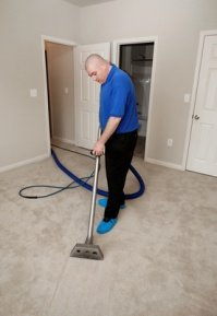 Steam cleaning carpet mold