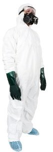 Mold removal tyvek suit